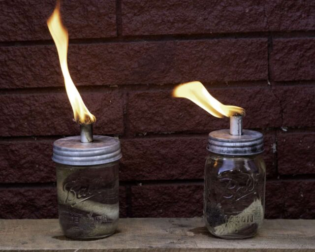mason-jar-lifestyle-tikia-torch-oil-lamp-wick-lid-galvanized-metal-regular-wide-mouth-pint-ball-jars-red-brick-flame