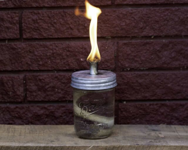 mason-jar-lifestyle-tiki-torch-oil-lamp-wick-lid-galvanized-metal-wide-mouth-ball-jar-red-brick-fire