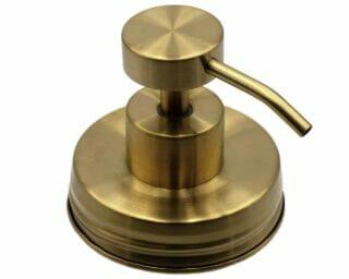 mason-jar-lifestyle-soap-pump-dispenser-lid-kit-vintage-matte-gold-#2-regular-mouth-mason-jars