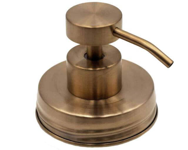 mason-jar-lifestyle-soap-pump-dispenser-lid-kit-vintage-matte-rose-gold-#2-regular-mouth-mason-jars