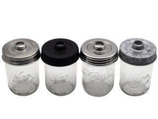 mason-jar-lifestyle-threaded-soap-lid-wide-mouth-mason-jars-satin-brushed-matte-black-mirror-chrome-polished-galvanized