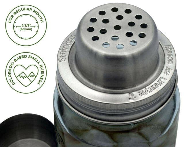 mason-jar-lifestyle-w&p-designs-mason-shaker-cocktail-lid-stainless-steel-band-blue-ball-jar-cap-off-icons