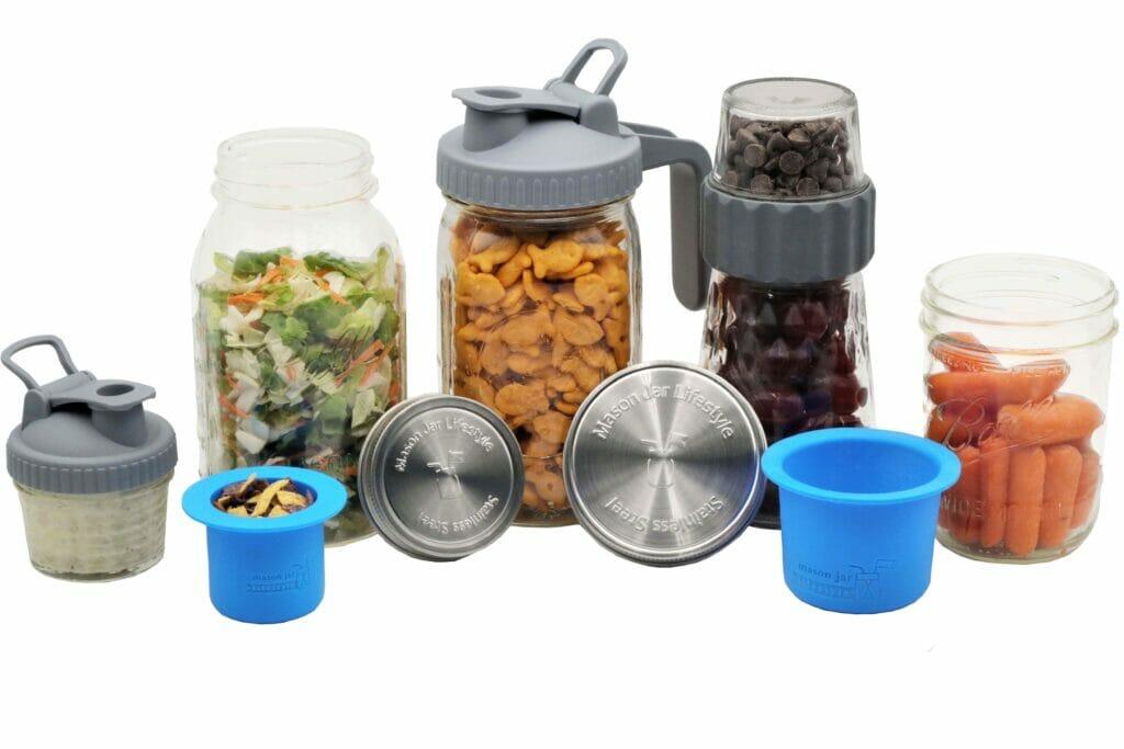 Mason Jar Lifestyle Salad and Snacks Starter Kit