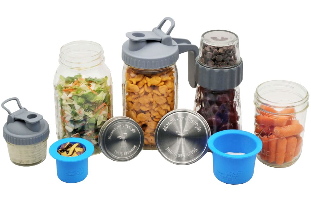 Mason Jar Lifestyle Salad and Snacks Starter Set