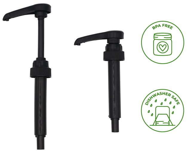 Food Grade Dispense Pump for Regular or Wide Mouth Mason Jars