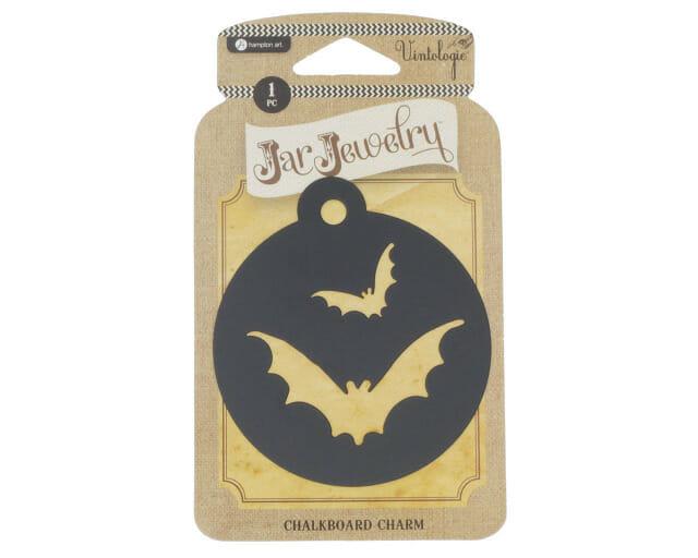 Halloween Chalkboard Bat Tag for Mason Jars by Jar Jewelry