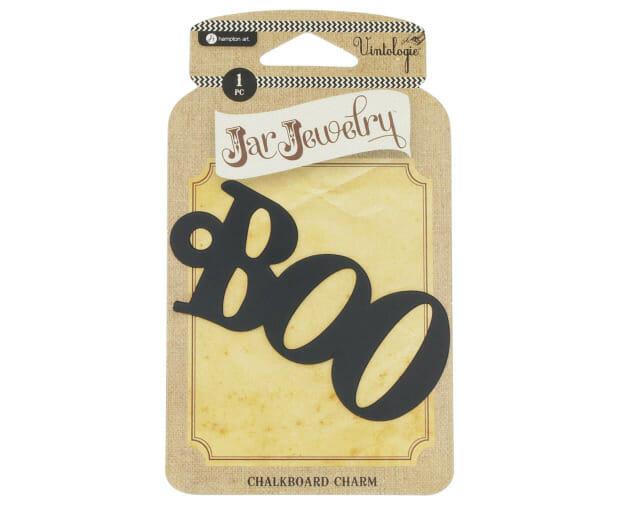 Halloween Boo Chalkboard Label for Mason Jars by Jar Jewelry
