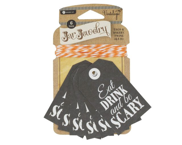 Eat Drink Be Scary Halloween Tags for Mason Jars by Jar Jewelry