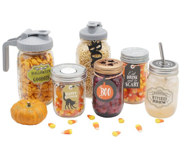Halloween Tags and Labels for Mason Jars
