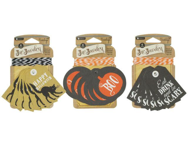 Halloween Tags for Mason Jars by Jar Jewelry