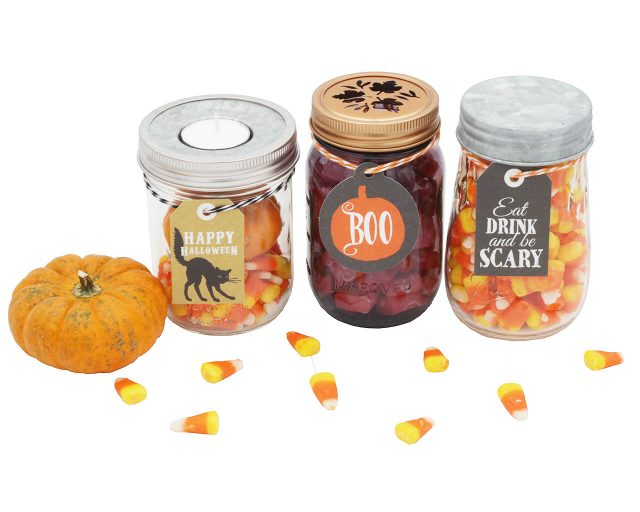 Halloween Tags and Labels for Mason Jars by Jar Jewelry