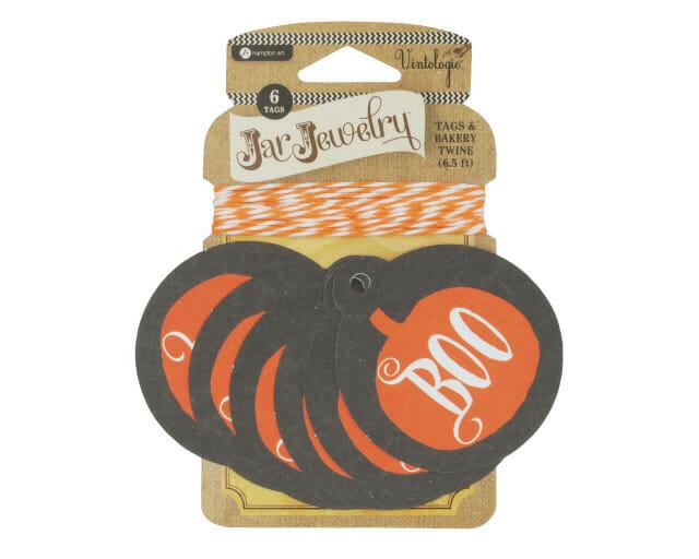 Pumpkin Boo Halloween Tag for Mason Jars by Jar Jewelry